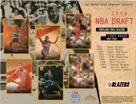1996 Upper Deck Blazers Draft Sheet