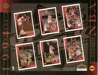 1994 Upper Deck NBA Rockets Sheet