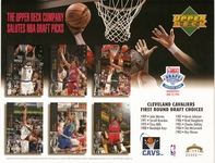 1994 Upper Deck Cavaliers Draft Sheet