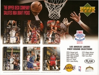 1994 Upper Deck Lakers Draft Sheet