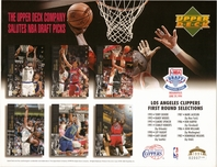 1994 Upper Deck Clippers Draft Sheet