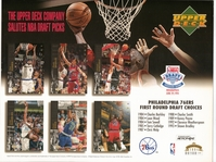 1994 Upper Deck 76ers Draft Sheet