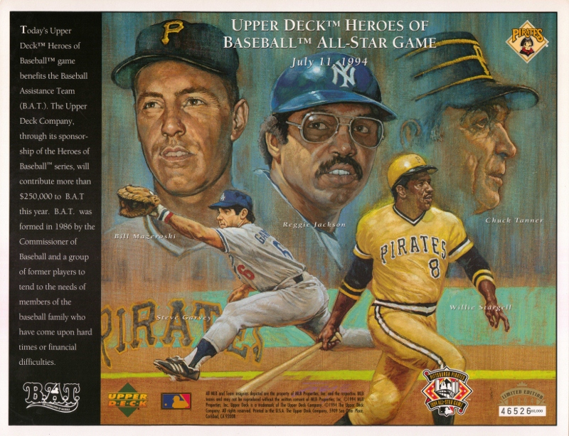 1994 Upper Deck Pirates Commemorative Sheet