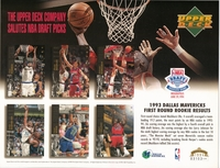 1994 Upper Deck Mavericks Draft Sheet