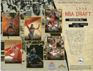 1996 upper deck timberwolves draft sheet