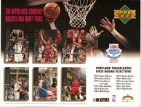 1994 Upper Deck Blazers Draft Sheet