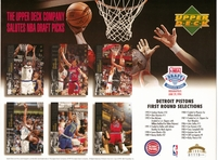 1994 Upper Deck Pistons Draft Sheet