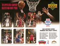 1994 Upper Deck Spurs Draft Sheet