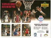 1994 Upper Deck Timberwolves Draft Sheet