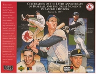 1994 Upper Deck Red Sox Commemorative Sheet
