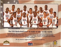 1994 Upper Deck USA Basketball Team Sheet